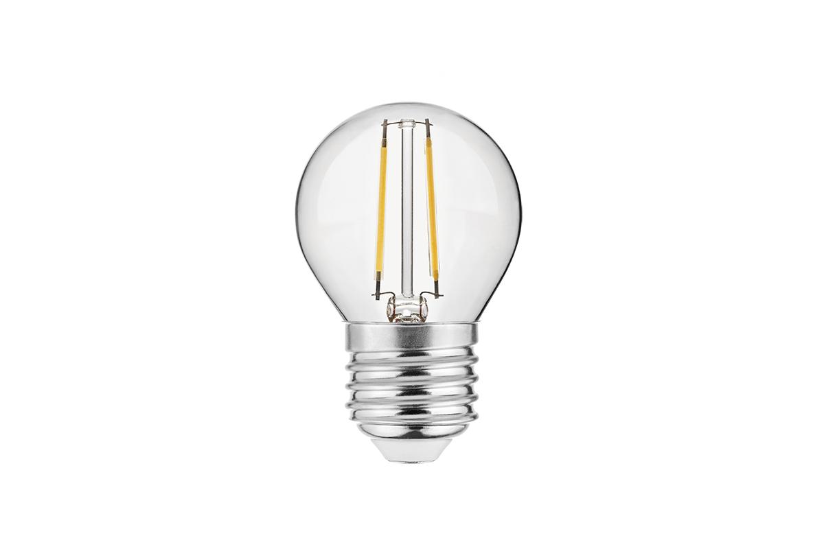 Bec LED FILAMENT, G45, 3000K, E27, 4W
