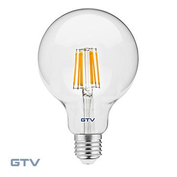 Bec LED FILAMENT, G95, 3000K, E27, 8W