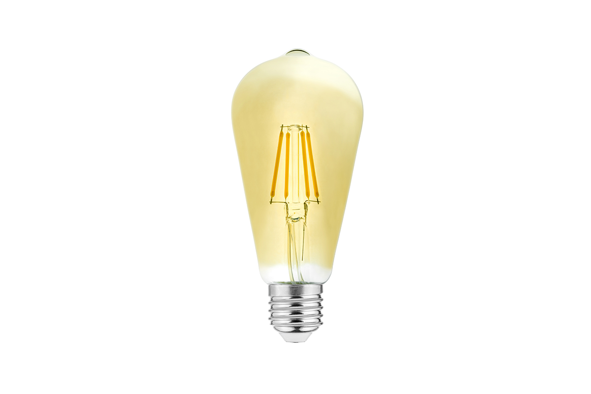 Bec LED decorativ FILAMENT VINTAGE, ST64, E27, 4W, 400lm